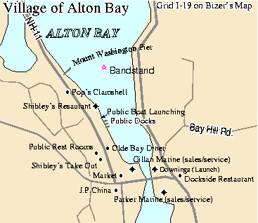 Map of Alton Bay