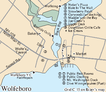 Map of downtown Wolfeboro